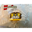 LEGO Basic Style Printed Brick Key Chain - Lion with Yellow Plate (3965)