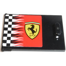 LEGO Container Cupboard 2 x 3 x 2 Door with Checkered Flag and Ferrari Logo (Left) Sticker (4533)