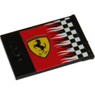 LEGO Container Cupboard 2 x 3 x 2 Door with Checkered Flag and Ferrari Logo (Right) Sticker (4533)