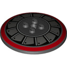 LEGO Dish 6 x 6 Inverted with Blade Pattern Solid Studs (25821 / 44375)