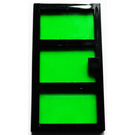 LEGO Door 1 x 4 x 6 with 3 Panes and Transparent Green Glass