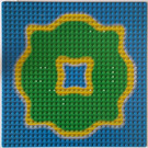 LEGO Baseplate 32 x 32 with Island and Lagoon in the Center (3811)
