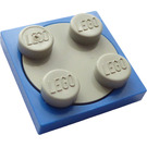 LEGO Turntable 2 x 2 Plate with Light Gray Top (3680)