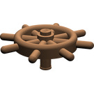 LEGO Brown Ship Wheel with Unslotted Pin (4790)