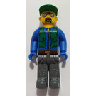 LEGO Construction worker with Green Cap Minifigure