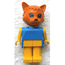 LEGO Cornelius Cat with Yellow Arms Fabuland Figure