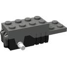LEGO Pullback Motor 6 x 2 x 1 2/3 with White Shafts and Black Base