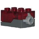 LEGO Electric Light Brick 2 x 3 x 1.3 Red (38564 / 54869)