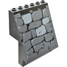 LEGO Sloped Panel 4 x 6 x 6 with Stone Wall Pattern (30156 / 53212)