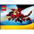 LEGO Fiery Legend Set 6751 Instructions