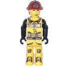 LEGO Fireman with 07 on Helmet Minifigure
