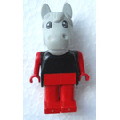 LEGO Harry Horse with Black Top Red Arms and Legs Fabuland Figure