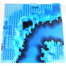 LEGO Baseplate 32 x 32 Canyon Plate with Blue River Pattern (Underwater Scenery)