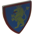 LEGO Light Gray Minifig Shield Triangular with Yellow Lion on Blue