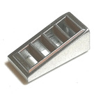 LEGO Metallic Silver Slope 1 x 2 x 0.6 (18°) with Grille (18863)
