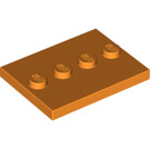 LEGO Tile 3 x 4 with Four Studs (17836 / 88646)