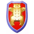 LEGO Large Figure Shield with Bear and Metal Blue Border Pattern
