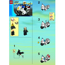 LEGO Police Motorcycle Set (Black/Green Sticker) 7235-1 Instructions