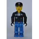 LEGO Policeman with Black Cap with Silver Star Minifigure