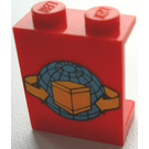 LEGO Panel 1 x 2 x 2 with Transport Planet, Arrows, and Box without Side Supports, Solid Studs (4864)