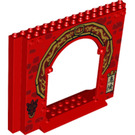LEGO Panel 4 x 16 x 10 with Gate Hole with Yellow arch decoration (15626 / 24824)