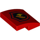 LEGO Red Slope 2 x 2 Curved with Fire Logo (24410)