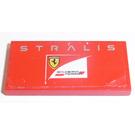 LEGO Red Tile 2 x 4 with 'STRALIS', 'Scuderia Ferrari' Logo Sticker
