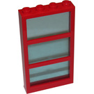 LEGO Window 1 x 4 x 6 with 3 Panes and Transparent Light Blue Fixed Glass (6160)