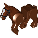 LEGO Horse with Moveable Legs and Black Bridle and White Face Front (10509 / 10509)