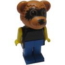 LEGO Ricky Raccoon with Black Top Fabuland Figure