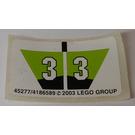 LEGO Sticker Sheet for Set 8356 (45277)