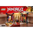 LEGO Throne Room Showdown Set 70651 Instructions