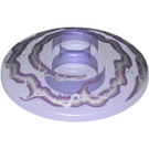 LEGO Dish 2 x 2 Inverted with White and Lavender Lightning Swirl (4740 / 20268)