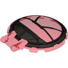 LEGO Dish 6 x 6 Inverted with Handle with Black Frame 'SW Sith TIE Fighter' (18675 / 66907)