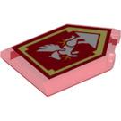 LEGO Tile 2 x 3 Pentagonal with Silver Pegasus Power Shield (22385 / 29092)