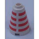 LEGO Cone 2 x 2 x 2 with Red Stripes (Safety Stud)