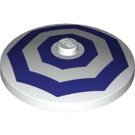 LEGO Dish 4 x 4 Inverted with Dark Purple Octagons Decoration with Solid Stud (3960 / 94656)