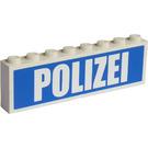 LEGO Stickered Assembly with 'POLIZEI'