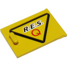 LEGO Container Cupboard 2 x 3 x 2 Door with 'R.E.S. Q' (left) Sticker (4533)
