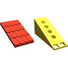 LEGO Fabuland Roof Support with Red Roof Slope and No Chimney Hole (787)