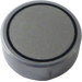 LEGO Round Tile 1 x 1 with Groove with Silver Circle Pattern (25313 / 98138)